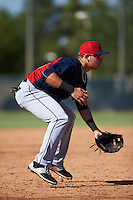 Cleveland Indians Henry Pujols (10) during an instructional league game against the Milwaukee Brewers on October 8, 2015 at the Maryvale Baseball Complex in Maryvale, Arizona.  (Mike Janes/Four Seam Images)