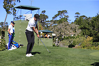 Jonas Blixt (SWE) chips onto the 12th green at Pebble Beach course during Friday's Round 2 of the 2018 AT&amp;T Pebble Beach Pro-Am, held over 3 courses Pebble Beach, Spyglass Hill and Monterey, California, USA. 9th February 2018.<br /> Picture: Eoin Clarke | Golffile<br /> <br /> <br /> All photos usage must carry mandatory copyright credit (&copy; Golffile | Eoin Clarke)