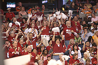 6 April 2008: Stanford Cardinal fans during Stanford's 82-73 win against the Connecticut Huskies in the 2008 NCAA Division I Women's Basketball Final Four semifinal game at the St. Pete Times Forum Arena in Tampa Bay, FL.