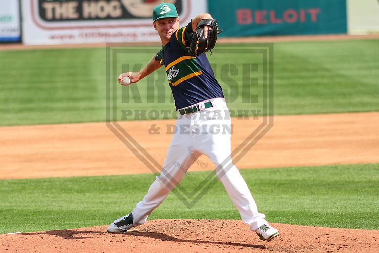 BELOIT - September 2014: Joseph Michaud (16) of the Beloit Snappers during a game against the Wisconsin Timber Rattlers on September 1st, 2014 at Pohlman Field in Beloit, Wisconsin.  (Photo Credit: Brad Krause)