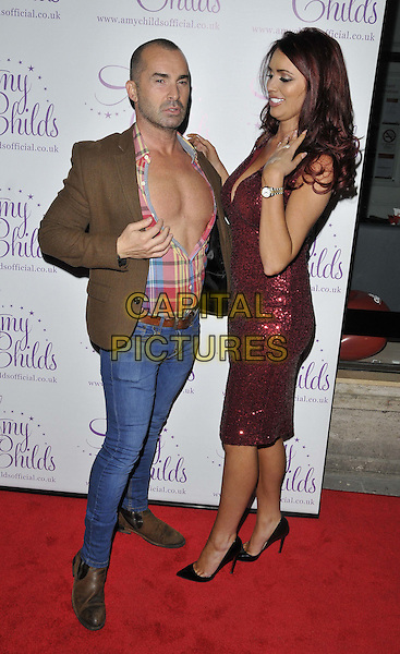 LONDON, ENGLAND - OCTOBER 27: Louie Spence &amp; Amy Childs attend the AmyChilds Clothing 3rd anniversary party &amp; new a/w 2015 collection launch, Dirty Martini, Hanover Square, on Monday October 27, 2014 in London, England, UK. <br /> CAP/CAN<br /> &copy;Can Nguyen/Capital Pictures