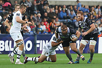 Dmitri Arhip of Ospreys is tackled during the Champions Cup Round 1 match between Ospreys and Clermont at The Liberty Stadium, Swansea, Wales, UK. Sunday 15 October 2017