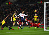 30th January 2019, Wembley Stadium, London England; EPL Premier League football, Tottenham Hotspur versus Watford; Fernando Llorente of Tottenham Hotspur shot for goal in 6-yard box goes over the bar
