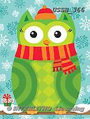 Sarah, CHRISTMAS SANTA, SNOWMAN, WEIHNACHTSMÄNNER, SCHNEEMÄNNER, PAPÁ NOEL, MUÑECOS DE NIEVE, paintings+++++XmasOwl-14-B  2,USSB366,#X#