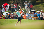 TAOYUAN, TAIWAN - OCTOBER 27:  Yani Tseng of Taiwan plays her second shot on the 1st hole during the day three of the Sunrise LPGA Taiwan Championship at the Sunrise Golf Course on October 27, 2012 in Taoyuan, Taiwan.  Photo by Victor Fraile / The Power of Sport Images