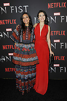www.acepixs.com<br /> March 15, 2017  New York City<br /> <br /> Jessica Henwick and Rosario Dawson attending Marvel's 'Iron Fist' New York screening at AMC Empire 25 on March 15, 2017 in New York City.<br /> <br /> Credit: Kristin Callahan/ACE Pictures<br /> <br /> <br /> Tel: 646 769 0430<br /> Email: info@acepixs.com