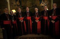 Vatican City, November 19, 2016. Cardinali Spagnoli posano per una foto nell'ambasciata Spagnola presso la Santa Sede per festeggiare l'elezione del nuovo cardinale Carlos Osoro Sierra.