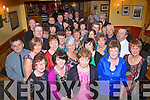 RETIRED: Kathleen Kennedy, Annascaul, (front centre) who has retired after 35yrs in the Dept of social welfare office in Tralee, enjoying her retirement party with friends and colleagues in Stokers Lodge bar/restaurant, Clounalour, Tralee, last Friday night.
