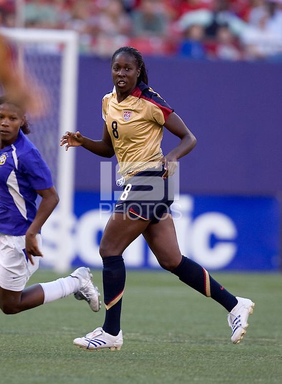 Tina Ellertson. USA defeated Brazil 2-0 at Giants Stadium on Sunday, June 23, 2007.