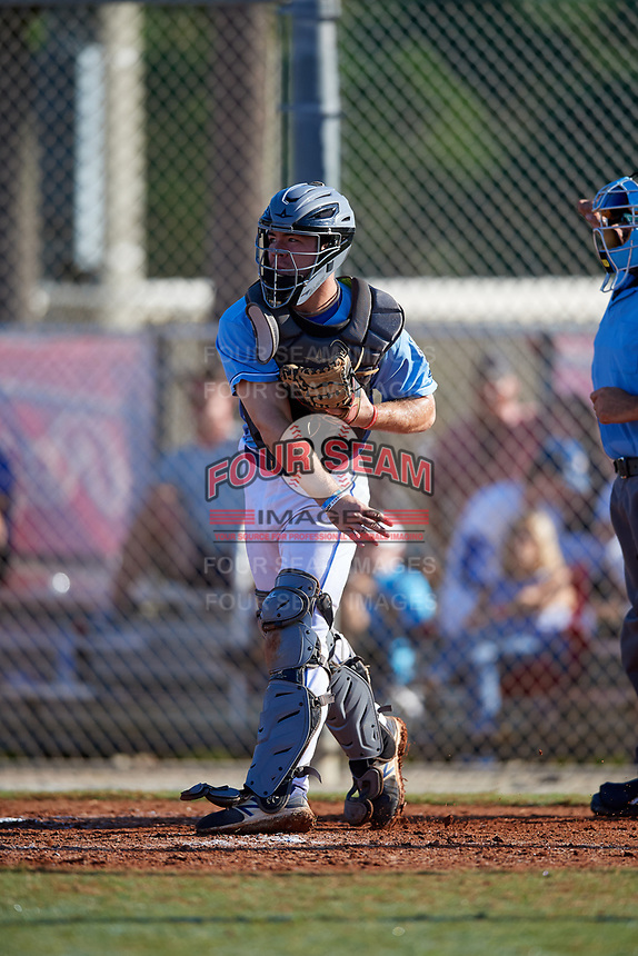 Alek Boychuk during the WWBA World Championship at the Roger Dean Complex on October 21, 2018 in Jupiter, Florida.  Alek Boychuk is a catcher from Buford, Georgia who attends Mill Creek High School and is committed to South Carolina.  (Mike Janes/Four Seam Images)