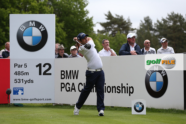 Alexander Levy (FRA) during Round Two of the 2015 BMW PGA Championship over the West Course at Wentworth, Virginia Water, London. 22/05/2015Picture David Lloyd, www.golffile.ie.