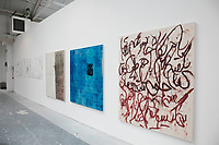 L-R: Sokoot (Silence); Gozaraan (Transient); Naagofteh (Unspoken), Leila Hesabi, 2017
