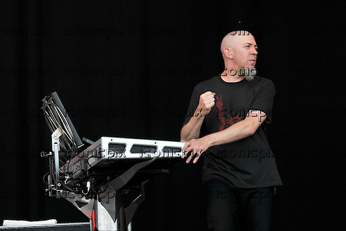 Dream Theater - keyboad player Jordan Rudess performing live on the Main Stage on Day Three of the 2009 Download Festival, Donington Park, UK - 14 Jun 2009. Photo by:  George Chin/IconicPix