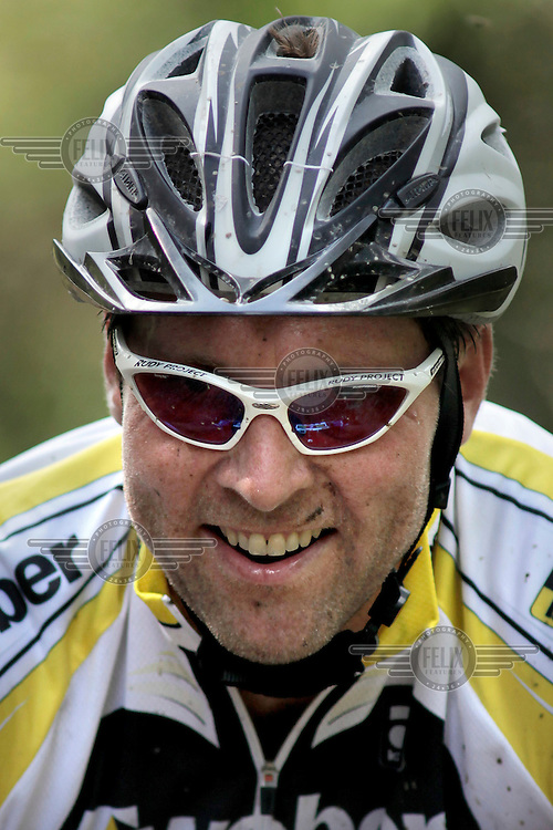 Happy rider. Kongerittet is a mountain bike race in the forest north of the Norwegian capital Oslo. There are two courses, 64km and 84km. The interest for these kind of bike races has exploded in Norway the last few years, particularly with middle age affluent men.