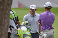 Paul Casey (GBR) shares a laugh with Xander Schauffele (USA) near the green on 17 during round 4 of the World Golf Championships, Mexico, Club De Golf Chapultepec, Mexico City, Mexico. 2/24/2019.<br /> Picture: Golffile | Ken Murray<br /> <br /> <br /> All photo usage must carry mandatory copyright credit (© Golffile | Ken Murray)