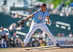 23 June 2019: New Hampshire Fisher Cats pitcher Danny Young on the mound against the Trenton Thunder at Northeast Delta Dental Stadium in Manchester, NH. The Thunder defeated the Fisher Cats 5-2 in Eastern League play. Mandatory Credit: Ed Wolfstein Photo *** RAW (NEF) Image File Available ***