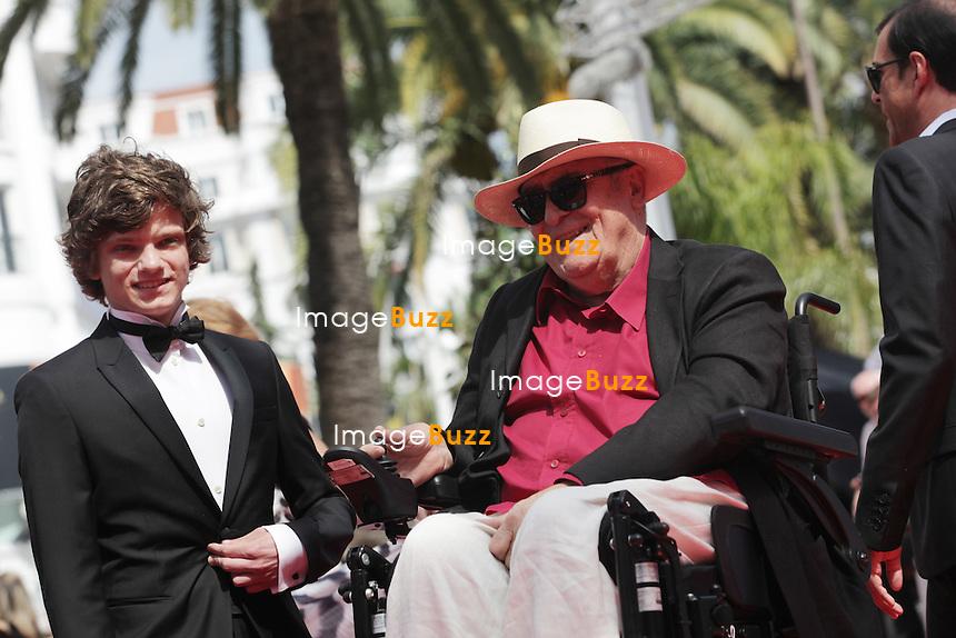 "Jacopo Olmo Antinori, Bernardo Bertolucci, Tea Falco - "" On The Road "" Premiere at the 65th Cannes Film Festival at the Palais des Festival..May 23rd, 2012."