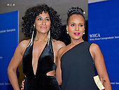 Tracee Ellis Ross, left, and Kerry Washington arrive for the 2016 White House Correspondents Association Annual Dinner at the Washington Hilton Hotel on Saturday, April 30, 2016.<br /> Credit: Ron Sachs / CNP<br /> (RESTRICTION: NO New York or New Jersey Newspapers or newspapers within a 75 mile radius of New York City)
