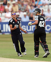 Danielle Wyatt of England celebrates the wicket of Maria Fahey - England Women vs New Zealand Women - First match of the NatWest summer T20 cricket series at the Ford County Ground, home of Essex CCC, Chelmsford -  29/06/10 - MANDATORY CREDIT: Gavin Ellis/TGSPHOTO - Self billing applies where appropriate - Tel: 0845 094 6026