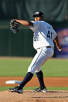 West Michigan Whitecaps pitcher Luis Angel Sanz (44) during a game vs. the Fort Wayne TinCaps at Fifth Third Field in Comstock Park, Michigan August 18, 2010.   Fort Wayne defeated West Michigan 5-1.  Photo By Mike Janes/Four Seam Images