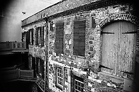 Old water front warehouse in the Port of Savannah.