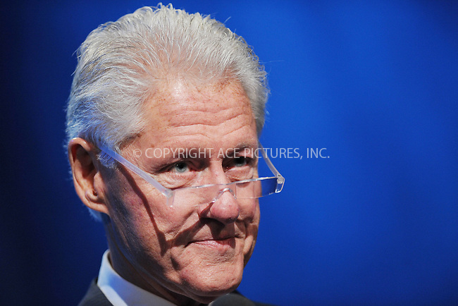 WWW.ACEPIXS.COM<br /> September 24, 2013 New York City<br /> <br /> Bill Clinton on stage during the annual Clinton Global Initiative (CGI) meeting on September 24, 2013 in New York City.<br /> <br /> By Line: Kristin Callahan/ACE Pictures<br /> <br /> ACE Pictures, Inc.<br /> tel: 646 769 0430<br /> Email: info@acepixs.com<br /> www.acepixs.com<br /> <br /> Copyright: Kristin Callahan/ACE Pictures