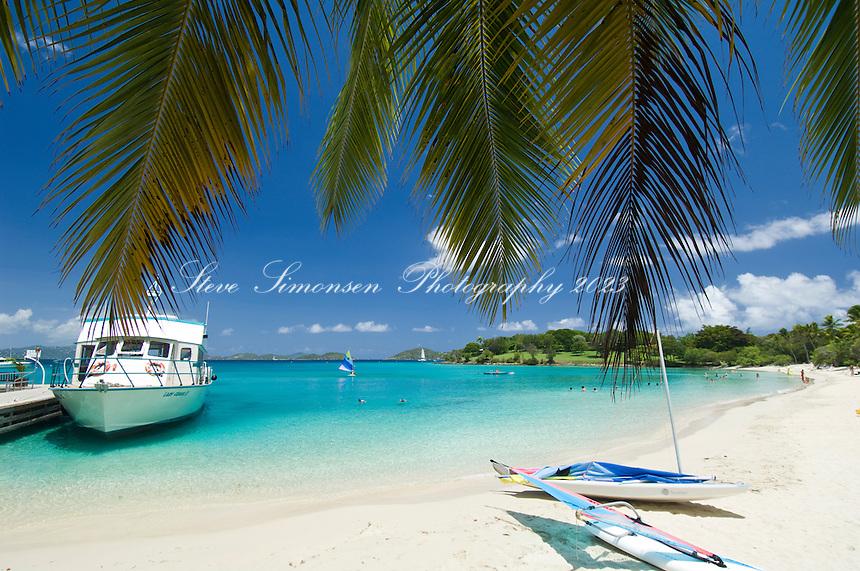 Caneel Bay Ferry at the dock<br /> Caneel Bay Resort<br /> Virgin Islands National Park<br /> St. John, U.S. Virgin Islands