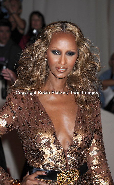 "Iman arriving at The Costume Institute Gala Benefit celebriting ""Alexander McQueen: Savage Beauty"" at The Metropolitan Museum of Art in New York City on May 2, 2011."