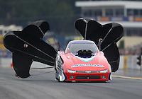 Oct 2, 2016; Mohnton, PA, USA; NHRA top alcohol funny car driver Matt Gill during the Dodge Nationals at Maple Grove Raceway. Mandatory Credit: Mark J. Rebilas-USA TODAY Sports