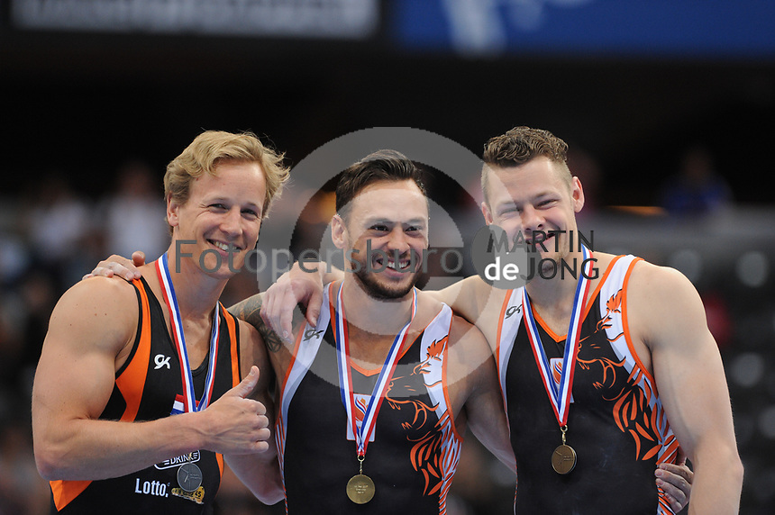 TURNEN: ROTTERDAM: 18-06-2017, NK Fantastic Gymnastics, Epke Zonderland, Bart van Deurlo, Boudewijn de Vries, ©foto Martin de Jong