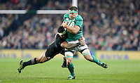19th November 2016 | IRELAND vs NEW ZEALAND<br /> <br /> CJ Stander is tackled by Malakai Fekitoa during the Autumn Series International clash between Ireland and New Zealand at the Aviva Stadium, Lansdowne Road, Dublin,  Ireland. Photo by John Dickson/DICKSONDIGITAL