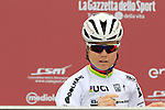 World Champion Amalie Dideriksen (DEN) Boels-Dolmans Cycling Team at sign on before the start of the Ladies 2017 Strade Bianche running 127km from Siena to Siena, Tuscany, Italy 4th March 2017.<br /> Picture: Eoin Clarke | Newsfile<br /> <br /> <br /> All photos usage must carry mandatory copyright credit (&copy; Newsfile | Eoin Clarke)