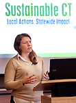 TORRINGTON CT. 18 December 2017-011818SV01-Jessica LeClair, Energy Technical Specialist, with Sustainable CT, a new statewide initiative to support Connecticut&rsquo;s cities and towns speaks during a regional launch event in Torrington Thursday.<br /> Steven Valenti Republican-American