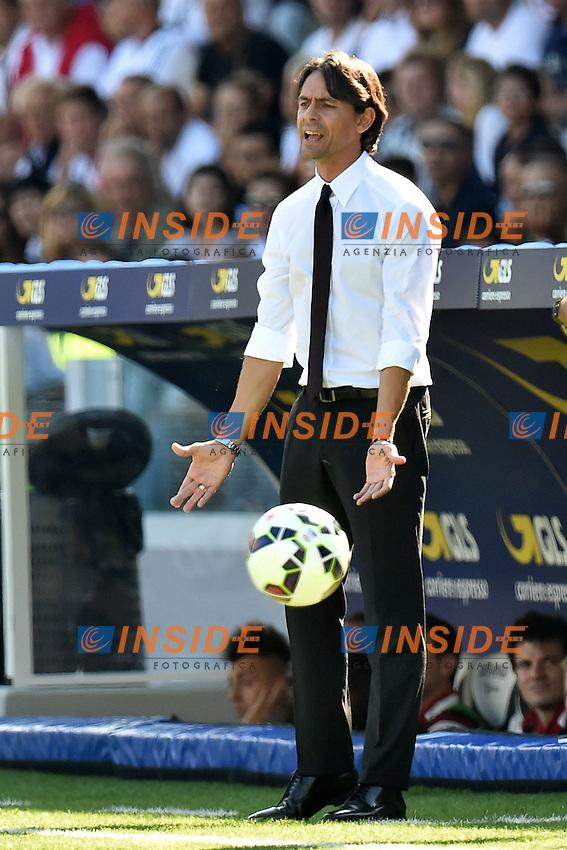 Filippo Inzaghi Milan <br /> Cesena 28-09-2014 Stadio Dino Manuzzi, Football Calcio Serie A Cesena - Milan. Foto Andrea Staccioli / Insidefoto