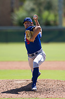 Los Angeles Dodgers pitcher Sven Schueller (9) delivers a pitch to the plate during an Instructional League game against the Chicago White Sox on September 30, 2017 at Camelback Ranch in Glendale, Arizona. (Zachary Lucy/Four Seam Images)