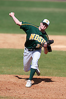 March 14, 2010:  Pitcher Ben Bruggeman (37) of North Dakota State University Bison vs. Akron University at Chain of Lakes Park in Winter Haven, FL.  Photo By Mike Janes/Four Seam Images