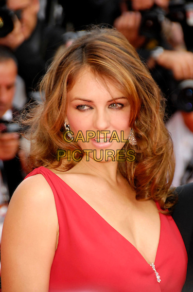 "ELIZABETH HURLEY.""My Blueberry Nights"" premiere & the 60th International Cannes Film Festival Opening Night, Cannes, France. .May 16th, 2007.headshot portrait Liz red.CAP/KRA .© Persun/Capital Pictures"