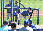 Kenta Maeda (Dodgers),<br /> FEBRUARY 29, 2016 - MLB : Pitcher Kenta Maeda of the Los Angeles Dodgers throws a pitch during a spring training baseball camp in Glendale, Arizona, USA.<br /> (Photo by AFLO)