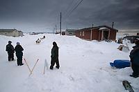 Paul Gebhardt Arrives in Shaktoolik 2004 Iditarod