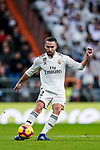 Daniel Carvajal Ramos of Real Madrid in action during the La Liga 2018-19 match between Real Madrid and Rayo Vallencano at Estadio Santiago Bernabeu on December 15 2018 in Madrid, Spain. Photo by Diego Souto / Power Sport Images