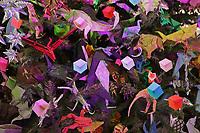 New York, NY, USA - November 20, 2017: OrigamiUSA 2017 Holiday Tree at the American Museum of Natural History - tree lighting day.
