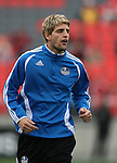 28 April 2007: Kansas City's Carlos Marinelli (ARG). Major League Soccer expansion team Toronto FC lost 1-0 to the Kansas City Wizards in the inaugural game at BMO Field in Toronto, Ontario, Canada, the first MLS game played outside of the United States.