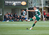 Steven Shingler of Ealing Trailfinders scores from the conversion during the RFU Championship Cup match between Ealing Trailfinders and Ampthill RUFC at Castle Bar , West Ealing , England  on 28 September 2019. Photo by Alan  Stanford / PRiME Media Images