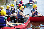 Ladies canoeing taster session at Cardiff International White Water Centre in Cardiff Bay.<br /> 06.07.13<br /> &copy;Steve Pope-SPORTINGWALES