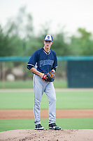 AZL Padres starting pitcher MacKenzie Gore (25) prepares to deliver a pitch to the plate against the AZL White Sox on July 31, 2017 at Camelback Ranch in Glendale, Arizona. AZL White Sox defeated the AZL Padres 2-1. (Zachary Lucy/Four Seam Images)