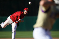 Daniel Cooper USC Trojans during game against the  Western Carolina Catamounts at Dedeaux Field in Los Angeles,CA.  Photo by Larry Goren/Four Seam Images