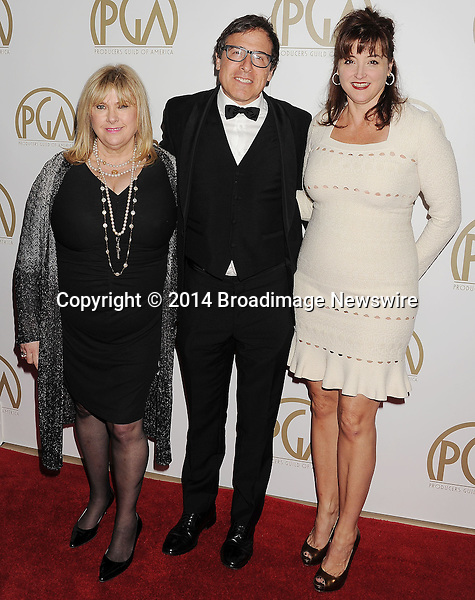 Pictured: Colleen Camp; David O. Russell; Janet Grillo<br /> Mandatory Credit &copy; Joseph Gotfriedy/Broadimage<br /> 25th Annual Producers Guild Awards<br /> <br /> 1/19/14, Beverly Hills, California, United States of America<br /> <br /> Broadimage Newswire<br /> Los Angeles 1+  (310) 301-1027<br /> New York      1+  (646) 827-9134<br /> sales@broadimage.com<br /> http://www.broadimage.com