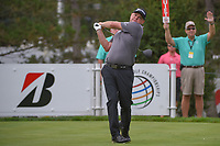 Ted Potter, Jr. (USA) watches his tee shot on 13 during 1st round of the World Golf Championships - Bridgestone Invitational, at the Firestone Country Club, Akron, Ohio. 8/2/2018.<br /> Picture: Golffile | Ken Murray<br /> <br /> <br /> All photo usage must carry mandatory copyright credit (&copy; Golffile | Ken Murray)