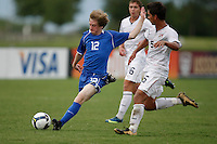 Joseph Schmid (12) of the Academy Select Team and Erik Stephenson (5) of the USA. The US U-17 Men's National Team defeated the Development Academy Select Team 5-3 during day two of the US Soccer Development Academy  Spring Showcase in Sarasota, FL, on May 23, 2009.