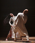 London UK 10th January 2019 Akram Khan's Company performing UNTIL THE LIONS Roundhouse London.  Akram Khan as Bheeshma Ching-Ying Chien as Amba